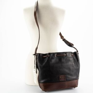 WILL LEATHER GOODS Black & Brown Bucket Bag